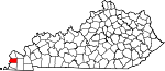 Map of Kentucky showing Carlisle County - Click on map for a greater detail.
