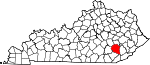 Map of Kentucky showing Clay County - Click on map for a greater detail.