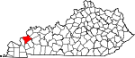 Map of Kentucky showing Crittenden County - Click on map for a greater detail.