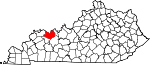 Map of Kentucky showing Daviess County - Click on map for a greater detail.