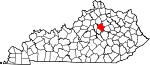 Map of Kentucky showing Fayette County - Click on map for a greater detail.