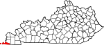 Map of Kentucky showing Fulton County - Click on map for a greater detail.