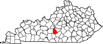 Map of Kentucky showing Green County - Click on map for a greater detail.