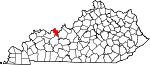 Map of Kentucky showing Hancock County - Click on map for a greater detail.