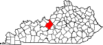 Map of Kentucky showing Hardin County - Click on map for a greater detail.