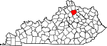Map of Kentucky showing Harrison County - Click on map for a greater detail.