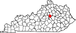Map of Kentucky showing Jessamine County - Click on map for a greater detail.