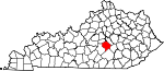 Map of Kentucky showing Lincoln County - Click on map for a greater detail.