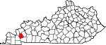 Map of Kentucky showing Lyon County - Click on map for a greater detail.