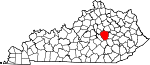 Map of Kentucky showing Madison County - Click on map for a greater detail.