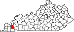 Map of Kentucky showing Marshall County - Click on map for a greater detail.