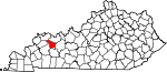 Map of Kentucky showing McLean County - Click on map for a greater detail.