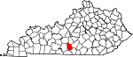 Map of Kentucky showing Metcalfe County - Click on map for a greater detail.