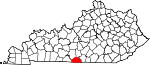 Map of Kentucky showing Monroe County - Click on map for a greater detail.