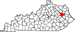 Map of Kentucky showing Morgan County - Click on map for a greater detail.