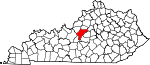 Map of Kentucky showing Nelson County - Click on map for a greater detail.