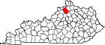 Map of Kentucky showing Owen County - Click on map for a greater detail.