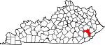 Map of Kentucky showing Perry County - Click on map for a greater detail.