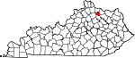 Map of Kentucky showing Robertson County - Click on map for a greater detail.