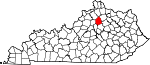Map of Kentucky showing Scott County - Click on map for a greater detail.