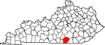 Map of Kentucky showing Wayne County - Click on map for a greater detail.