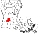 Map of Louisiana showing Allen Parish - Click on map for a greater detail.