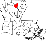 Map of Louisiana showing Ouachita Parish - Click on map for a greater detail.