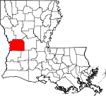 Map of Louisiana showing Vernon Parish - Click on map for a greater detail.