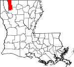 Map of Louisiana showing Webster Parish - Click on map for a greater detail.