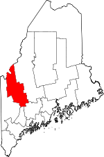 Map of Maine showing Franklin County - Click on map for a greater detail.