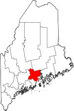 Map of Maine showing Waldo County - Click on map for a greater detail.