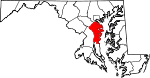 Map of Maryland showing Anne Arundel County - Click on map for a greater detail.