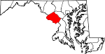Map of Maryland showing Montgomery County - Click on map for a greater detail.