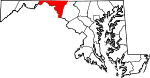 Map of Maryland showing Washington County - Click on map for a greater detail.