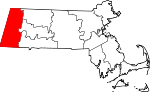 Map of Massachusetts showing Berkshire County - Click on map for a greater detail.