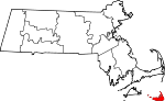 Map of Massachusetts showing Nantucket County - Click on map for a greater detail.
