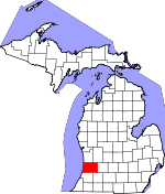 Map of Michigan showing Allegan County - Click on map for a greater detail.
