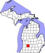 Map of Michigan showing Barry County - Click on map for a greater detail.