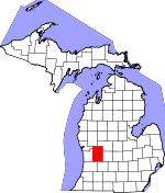 Map of Michigan showing Kent County - Click on map for a greater detail.