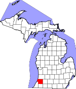 Map of Michigan showing Van Buren County - Click on map for a greater detail.
