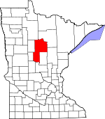 Map of Minnesota showing Cass County - Click on map for a greater detail.