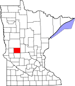 Map of Minnesota showing Douglas County - Click on map for a greater detail.