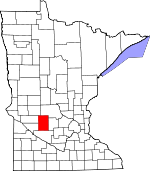 Map of Minnesota showing Kandiyohi County - Click on map for a greater detail.