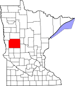 Map of Minnesota showing Otter Tail County - Click on map for a greater detail.