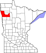 Map of Minnesota showing Polk County - Click on map for a greater detail.