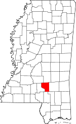 Map of Mississippi showing Covington County - Click on map for a greater detail.