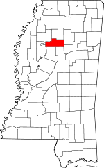 Map of Mississippi showing Grenada County - Click on map for a greater detail.