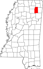Map of Mississippi showing Lee County - Click on map for a greater detail.