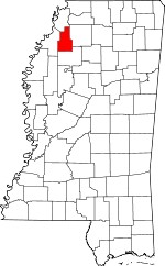 Map of Mississippi showing Quitman County - Click on map for a greater detail.