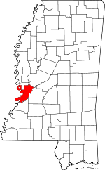 Map of Mississippi showing Warren County - Click on map for a greater detail.